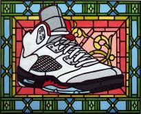Bonafide Icon, Grail V, acrylic on canvas, 2013, 16x20
