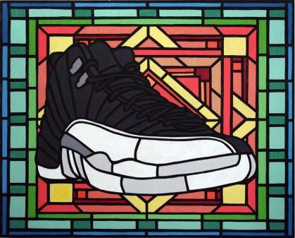 Bonafide Icon, Grail XII, acrylic on canvas, 16x20, 2013